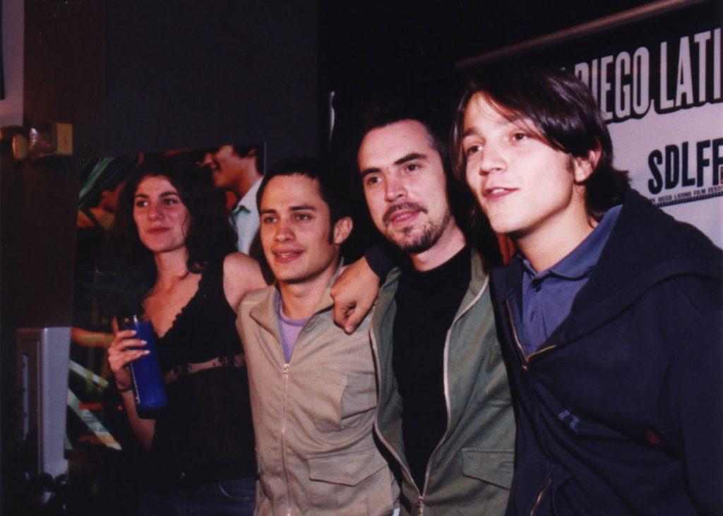 Early digital marketing at the SDLFF—Y Tu Mamá También, Gael García, Alfono Cuarón, and Diego Luna.