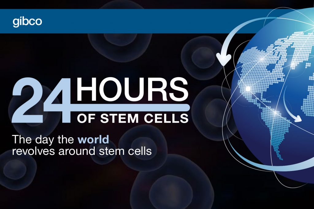 Image from the Gibco 24 Hours of Stem Cells campaign, from life sciences copywriter David Klowden's portfolio.